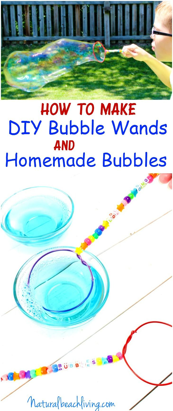 How To Make Diy Bubble Wands Homemade Bubbles Summer