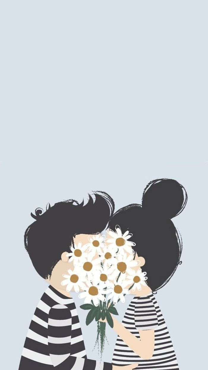 Wallpaper iphone cute - Sweet Couple Find More Super Cute Kawaii Wallpapers For Your Iphone Android Prettywallpaper Wallpapers Pinterest Kawaii Wallpaper Kawaii And