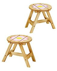springtime stools (set of 2)