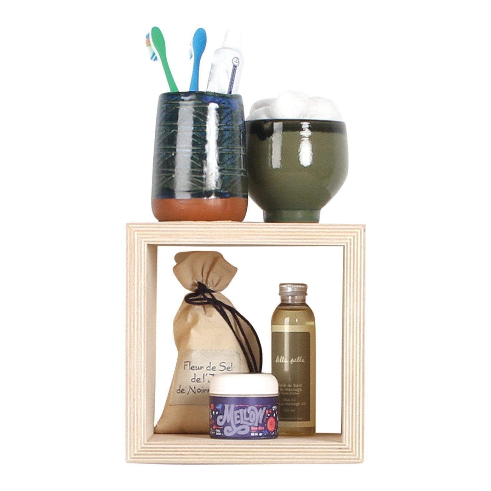 Gautier Studio Zan Cube Shelf, Natural Cube shelves