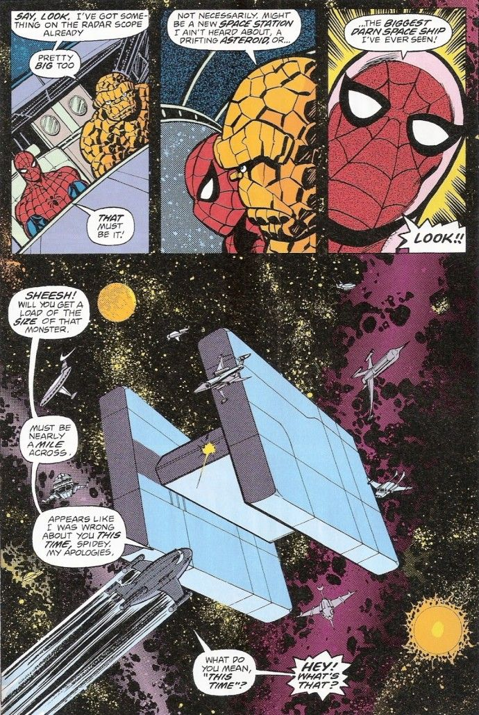 Spider-Man and Thing take on Thanos (in Marvel Two-in-One ...