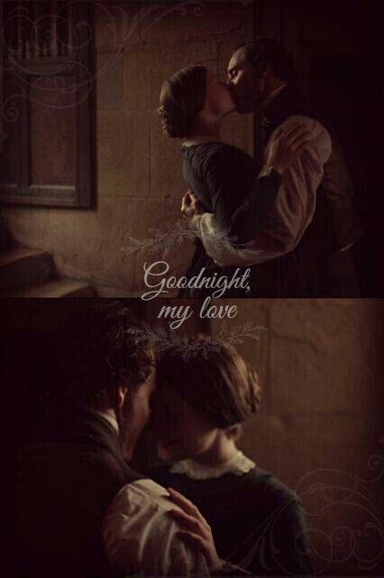 "Michael Fassbender as Mr Rochester (Jane Eyre) ""Goodnight my love"" *-*"