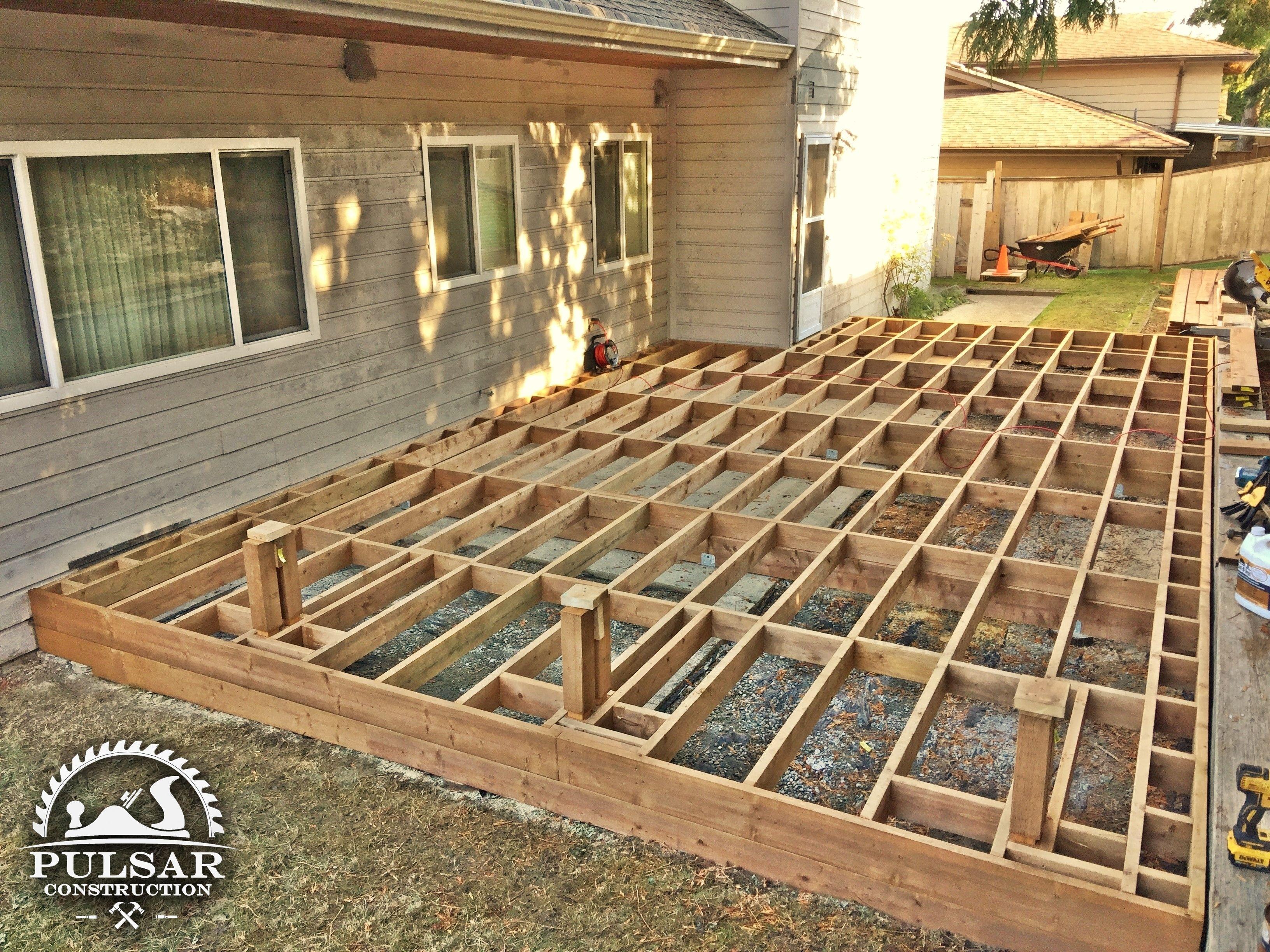 Ground Level Deck Framing Building A