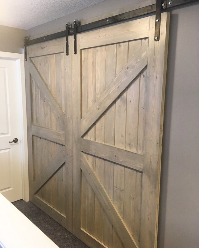 HIS \u0026 HER HOME double sliding barn doors closing off bonus room #barndoor #slidingbarndoor #bonusroom & HIS \u0026 HER HOME double sliding barn doors closing off bonus room ...