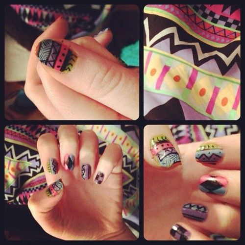 colorful, cute, fashion, nails