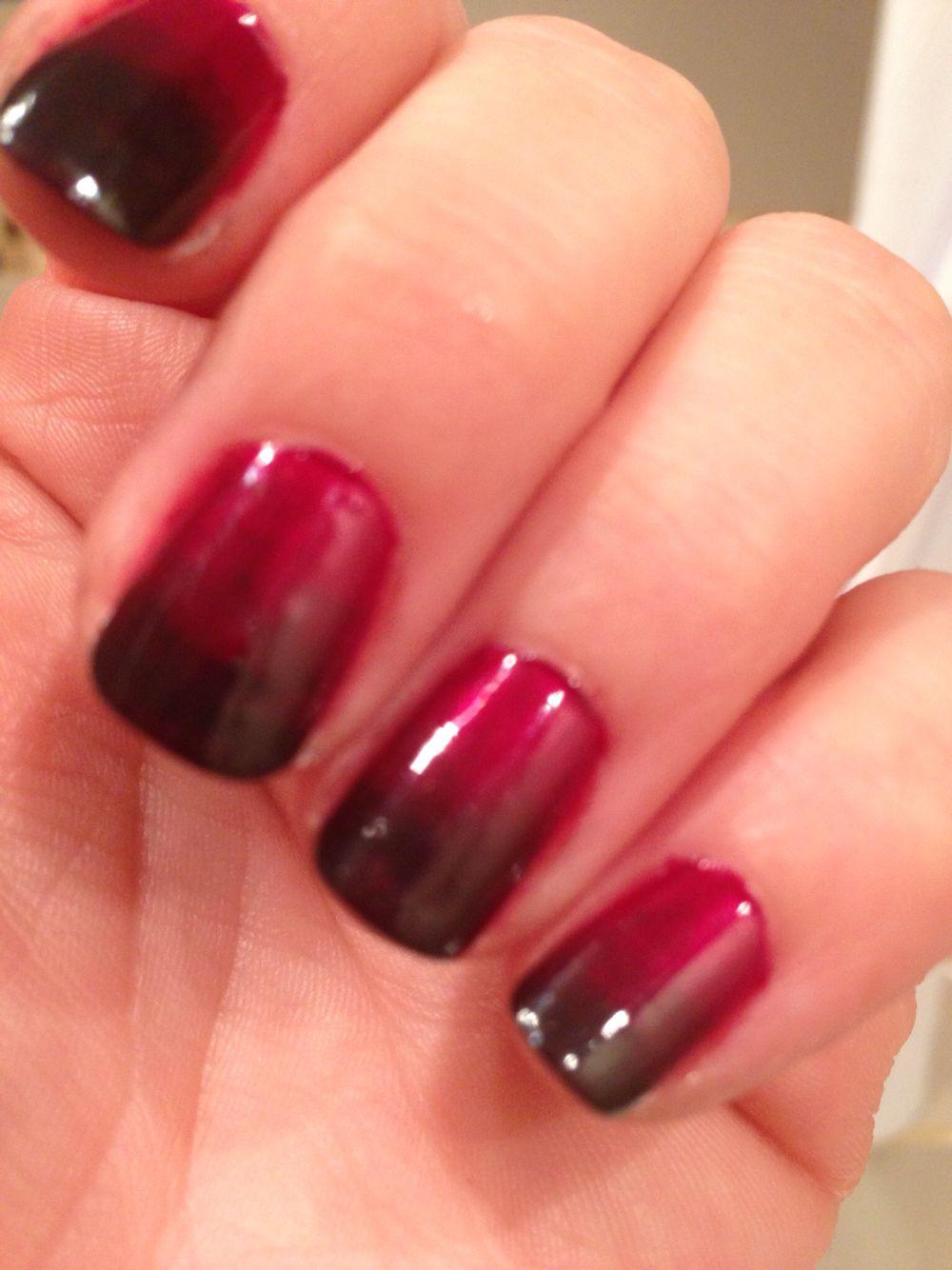 Esmalte uñas rojo y negro