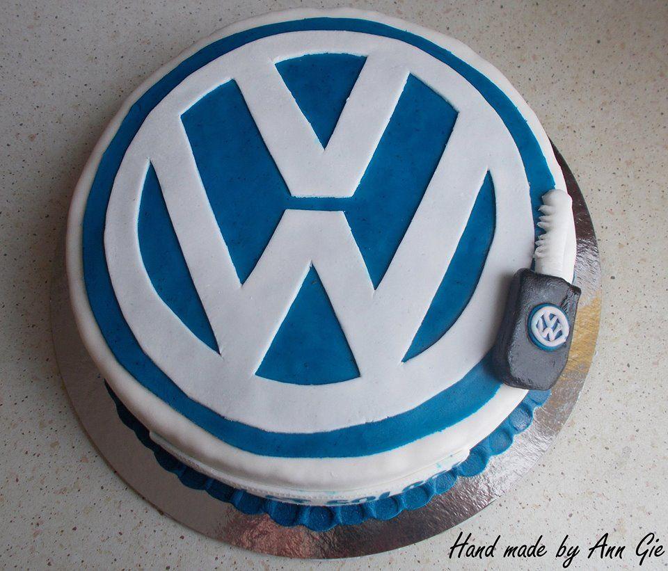 Volkswagen Logo Cake My Cakes In 2019 Torten Backen