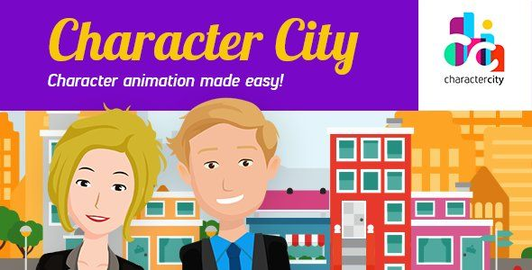 Explainer Video ToolKit  Character City V2 Typography - 3d character animator sample resume