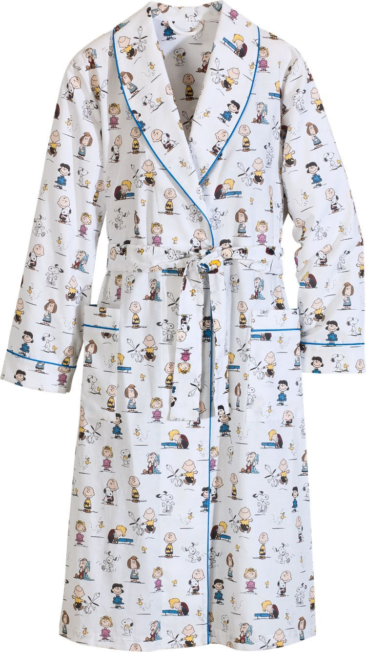 Women's Classic Peanuts Wrap Robe: our exclusive cotton flannel wrap robe is brushed for extra softness and warmth and features… (With images ...
