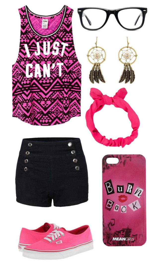 """""""Movie night"""" by nat-cat-iconic ❤ liked on Polyvore featuring Victoria's Secret PINK, LE3NO, Vans, NLY Accessories and Muse"""