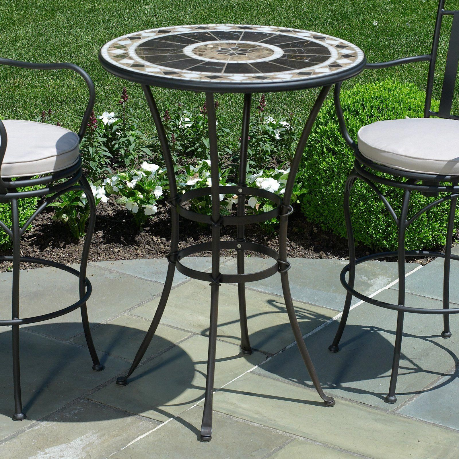 bar height patio furniture wicker