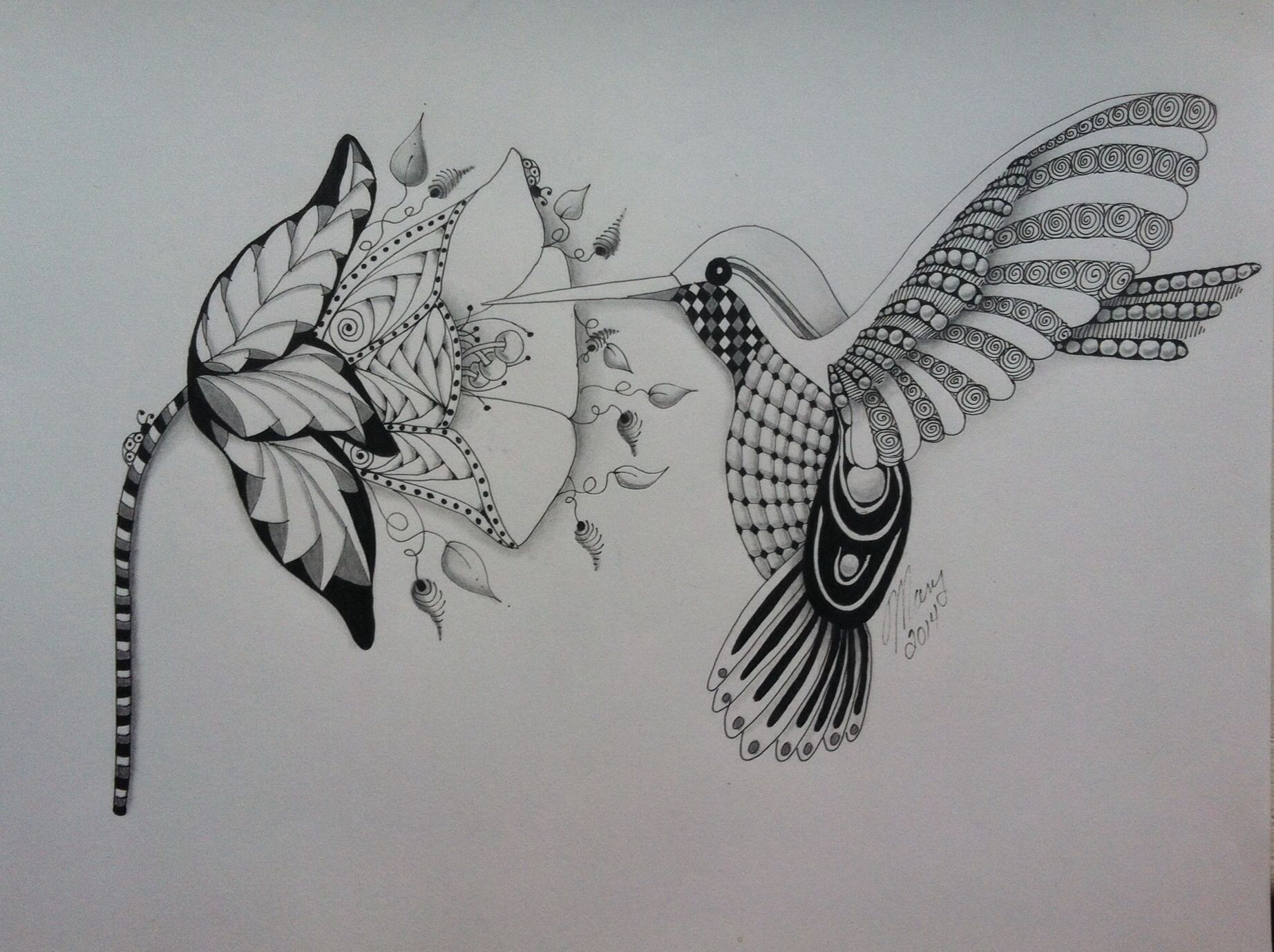 Hummingbird ZENTANGLES amp DOODLES MANDALA Pinterest