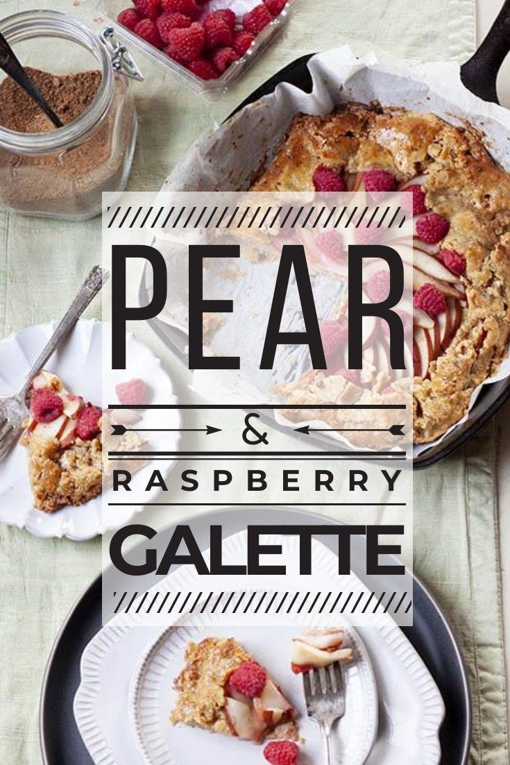 Paleo Pear and Raspberry Galette This stunning paleo pear and raspberry galette is a delicious and beautiful way to impress your guests this holidays season.