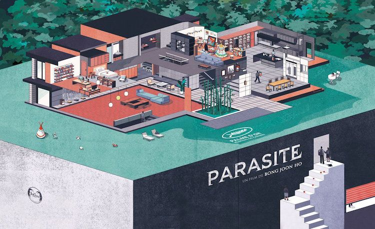 Parasite Fans Are Celebrating The Ingenious Film By Designing Their Own Movie Posters Alternative Movie Posters Film Poster Design Film Posters Parasite house floor plan