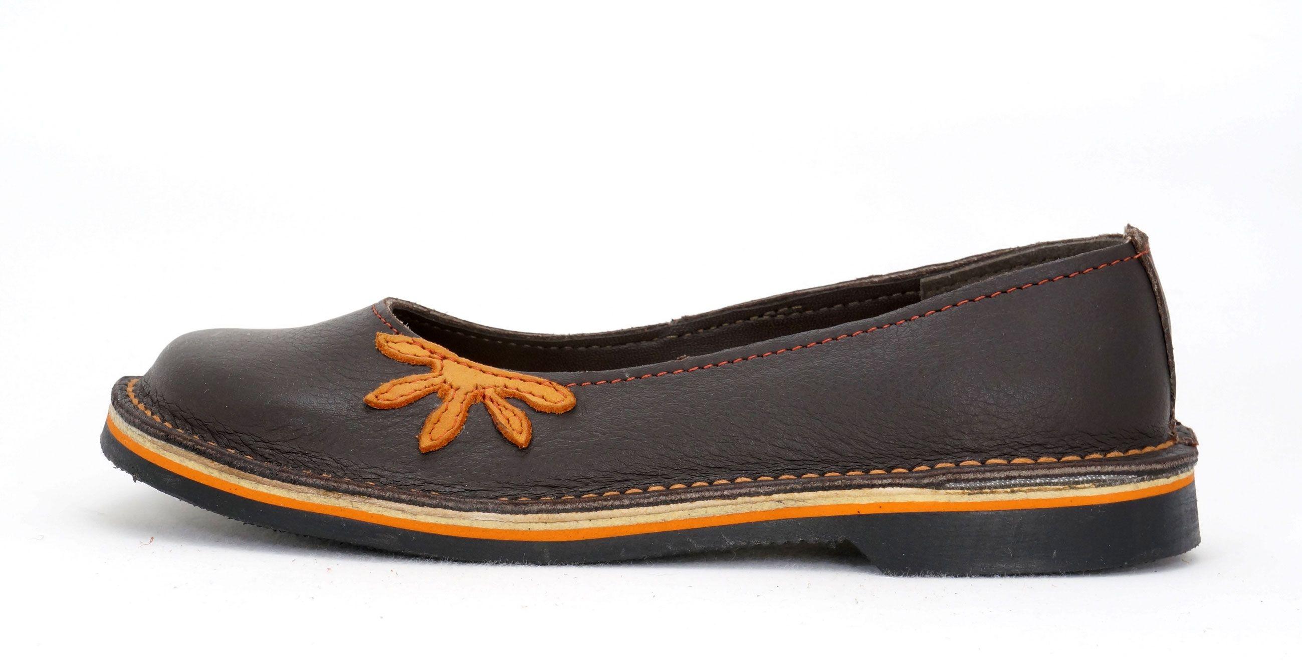 Freestyle Roberta Bundu Oxblood Orange Handcrafted Genuine Leather Shoes Leather Shoes Woman Genuine Leather Shoes Leather
