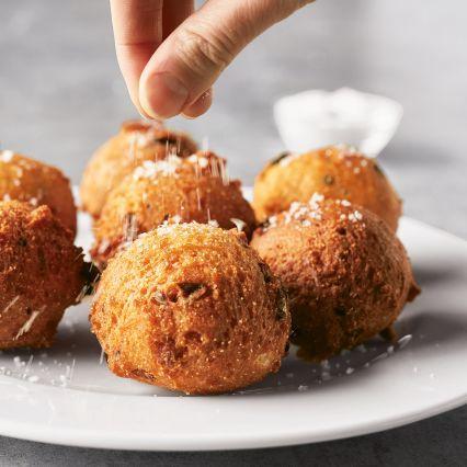 Recipes | Charred Scallion Hush Puppies | Sur La Table