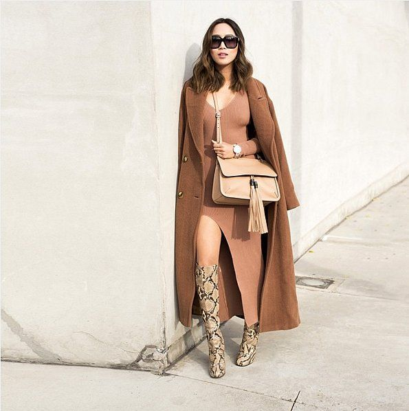 The Styling Secret to Rocking a Dress When It's Cold: Just because it's cool outside doesn't mean you have to put away your favorite dresses until Spring.