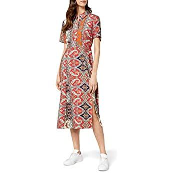 Vero Moda Vmava Plain SS Knee Dress VMA AOP/Color Vestido para Mujer  – Moda