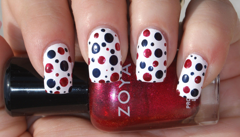 Memorial Day Dotticure - Zoya Snow White, Zoya Ibiza, and Zoya Sarah ...