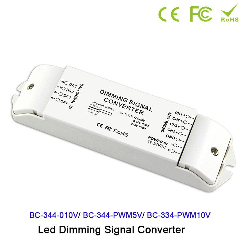 Led Driver Controller Dc12v 24v Dali To 0 10v Pwm5v Pwm10v 4 Channels Signal Converter Dali For Led Lamp Light Di 2020