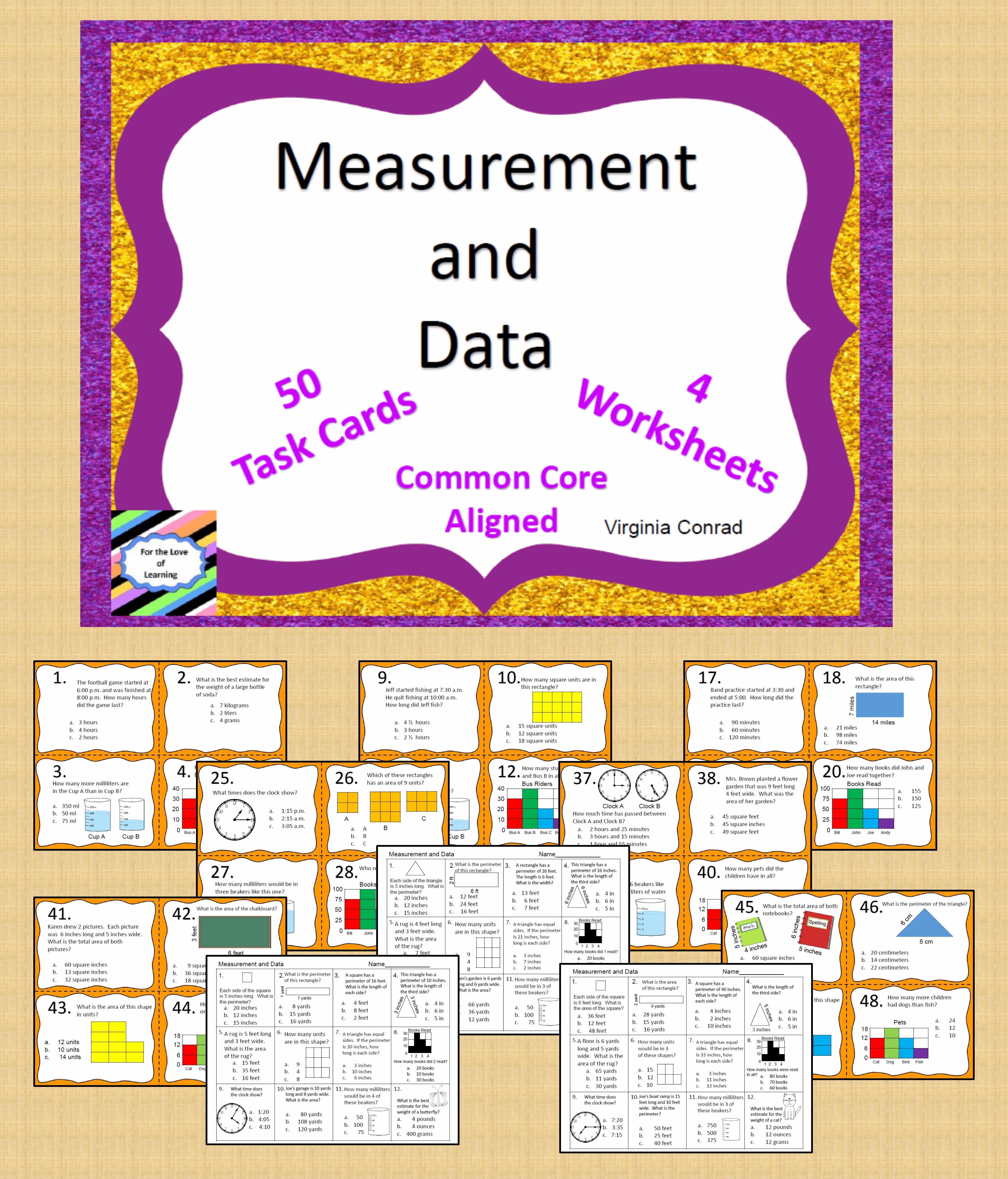 Measurement And Data Common Core Third Grade