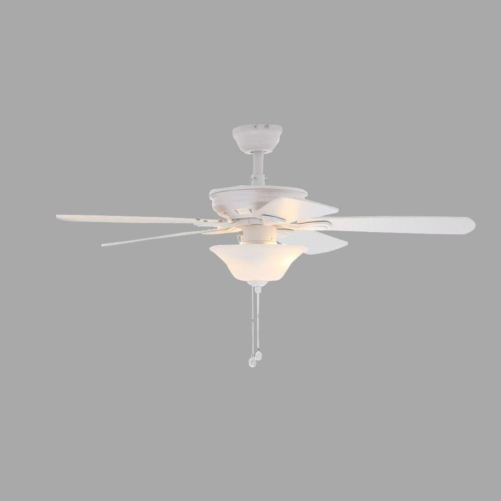 Superior Indoor Matte White Ceiling Fan With Light Kit 51360   The Home Depot. Kids  BedroomKids ...