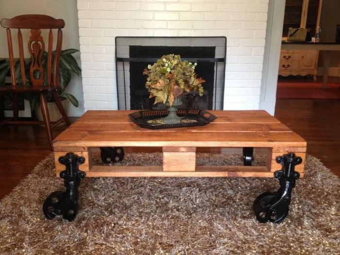 Diy Pallet Coffee Table With Wheels Decorative