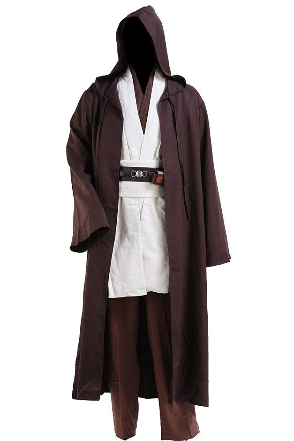 81caddaeef Cosplay Star Wars Jedi Robe Costume Obi-Wan Kenobi Halloween Outfit  Including  Inner Tunic+Outer Tunic+Tabard+Belt(simple version)+Pant+Robe  Please check ...
