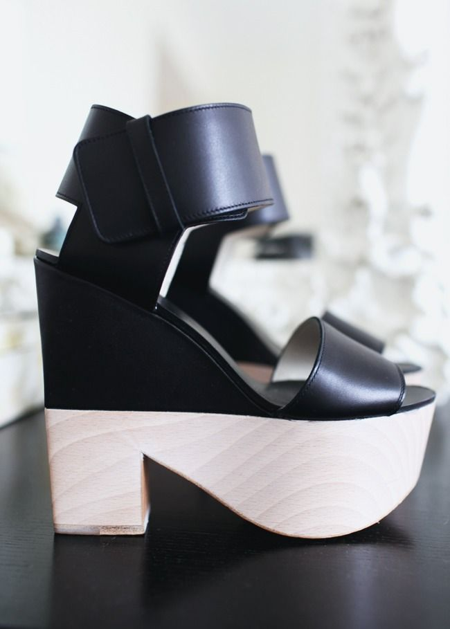 Celine Two-Toned Wedges