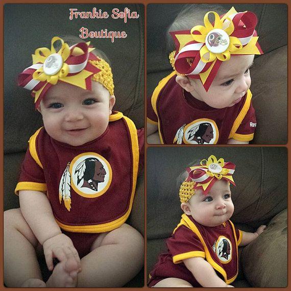 91869800 Mom would appreciate ;) Baby Washington Redskins Headband/Clip ...