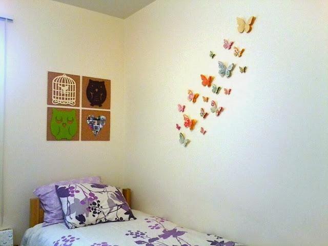 Diy Kamer Decoratie : Diy butterfly wall decor home decor pinterest muur