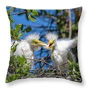 Look - I Have Wings Throw Pillow by Bill And Deb Hayes