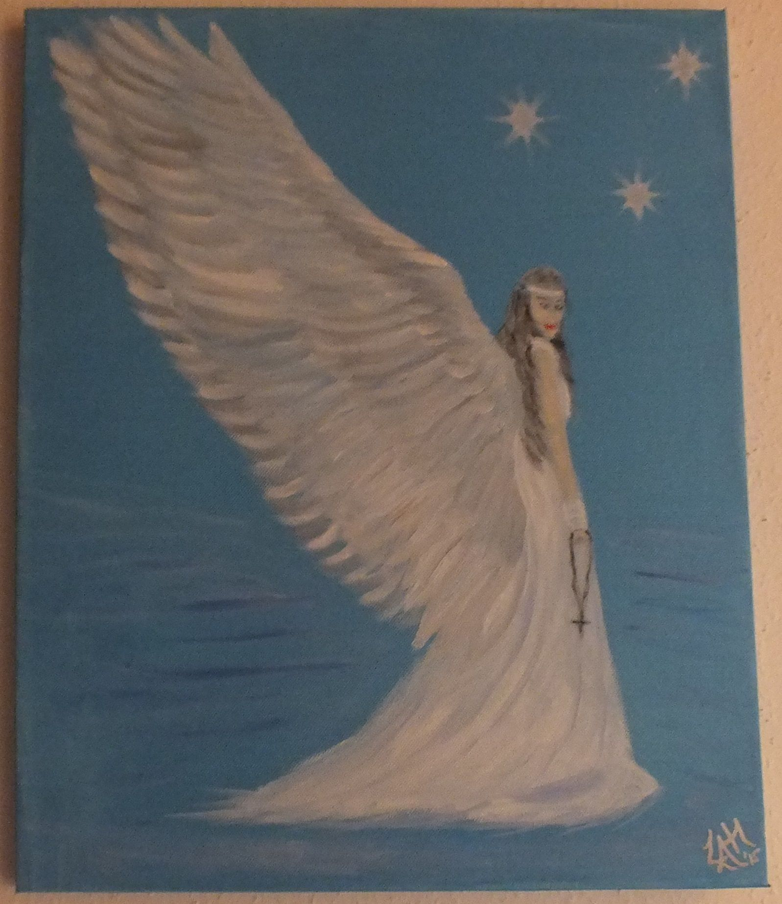 """Chrystel Winter Angel"" oil on canvas"