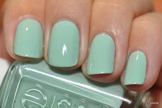 Pastel Green Mint Green Nails Mint Green Nails Mint Nails Essie Mint Candy Apple
