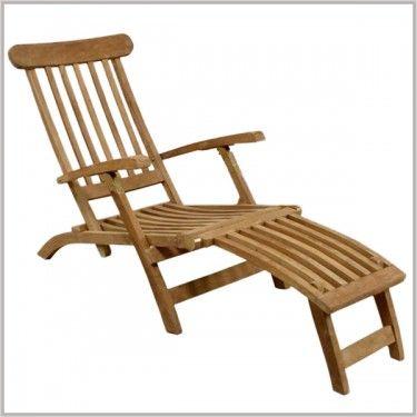 Classic Teak Deck Chair Steamer Bandon Oregon