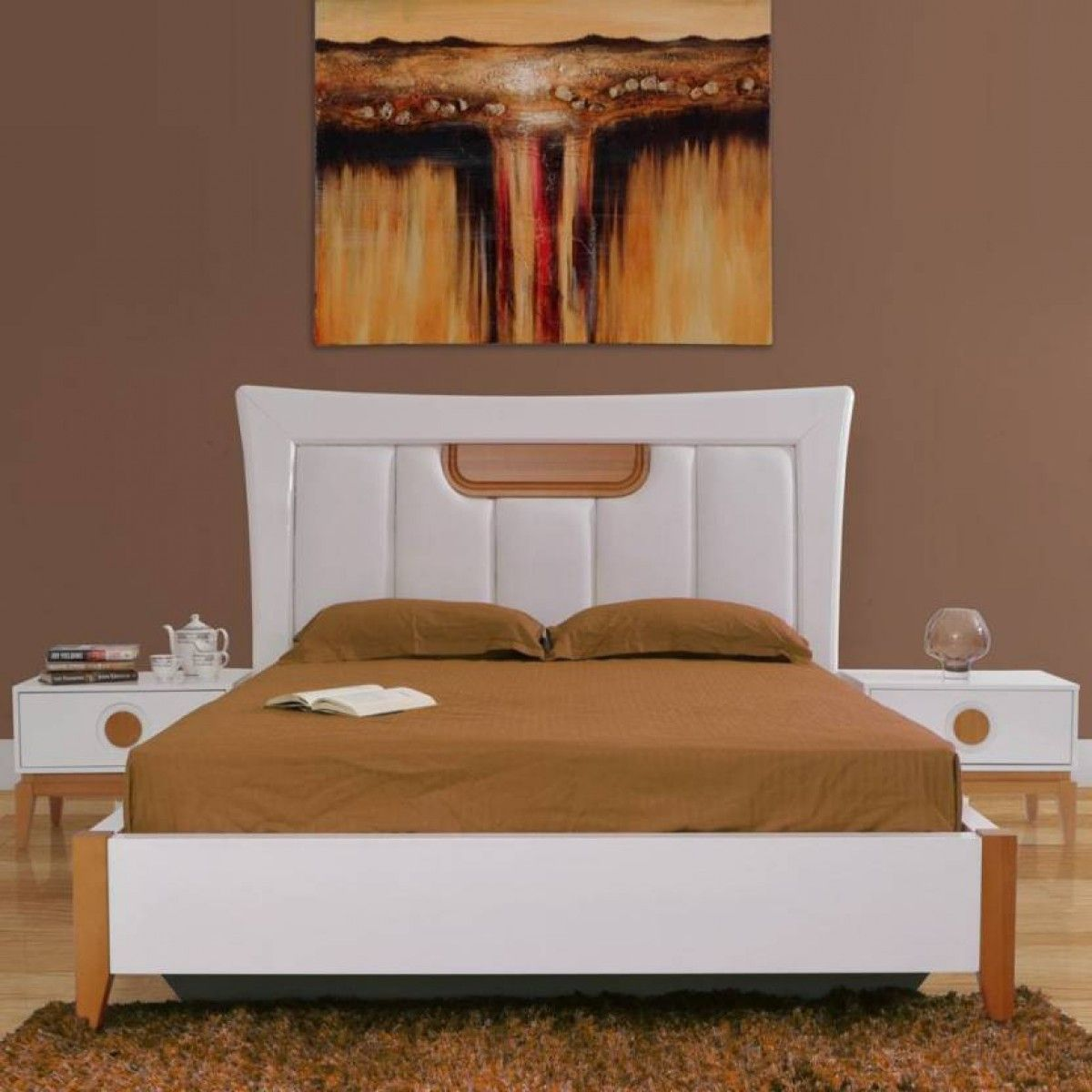 Gorevizon Queen Size Engineered Wood Bed With Headboard Storage Espresso Finish Cheap King Size Beds Headboard Storage Headboards For Beds
