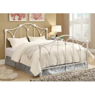 Coaster Traditional White Iron Queen Size Headboard And Footboard