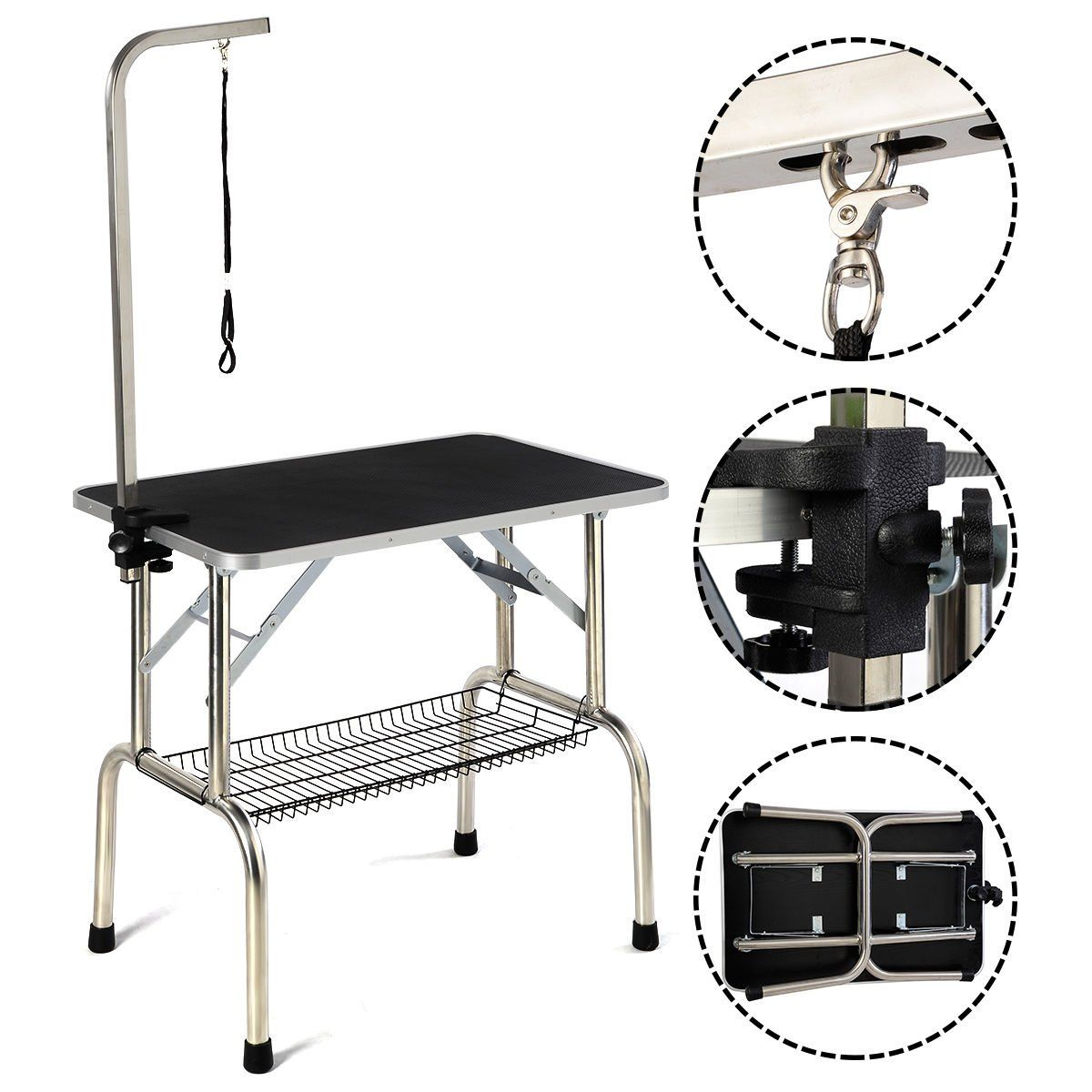 32 Large Portable Pet Dog Cat Grooming Table Dog Show W Arm Andnoose And Mesh Tray Want Additional Info Click On Cat Grooming Cat Grooming Tools Dog Show