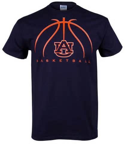Auburn Basketball 2012 Adult T Shirt Navy Basketball