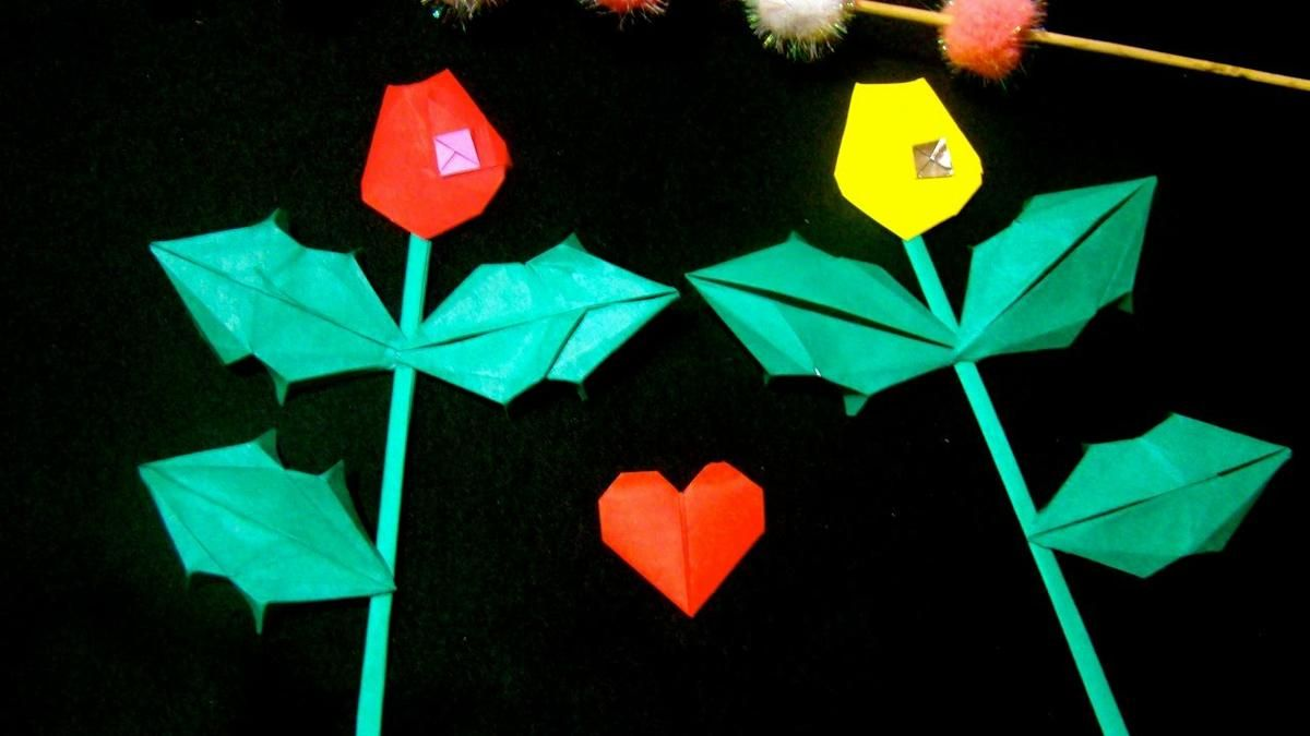 Tutoriales de origami: regalamos rosas de papel