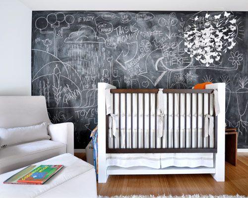 Les gusta la idea de un pizarr n en el cuarto del beb for Cuando empezar a preparar la habitacion del bebe