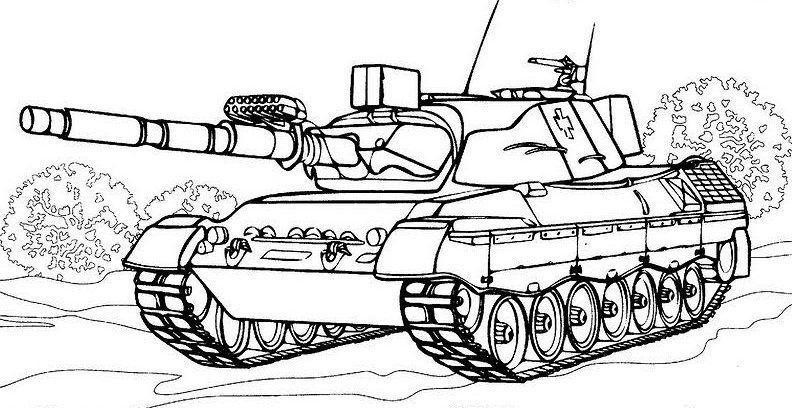 Ausmalbilder Panzer Gratis Malvorlagen Ausmalbilder