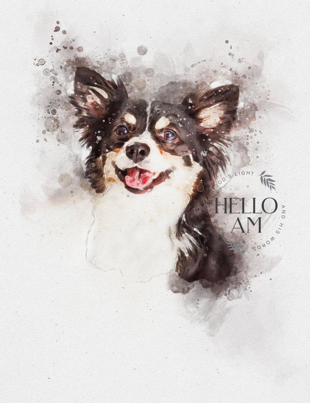Custom Pet  Portrait Watercolor Painting Memorial Art Dog  Portrait Pet Lover Gift PEEKABOO Set 3 Dog Portrait Custom Dog Portrait