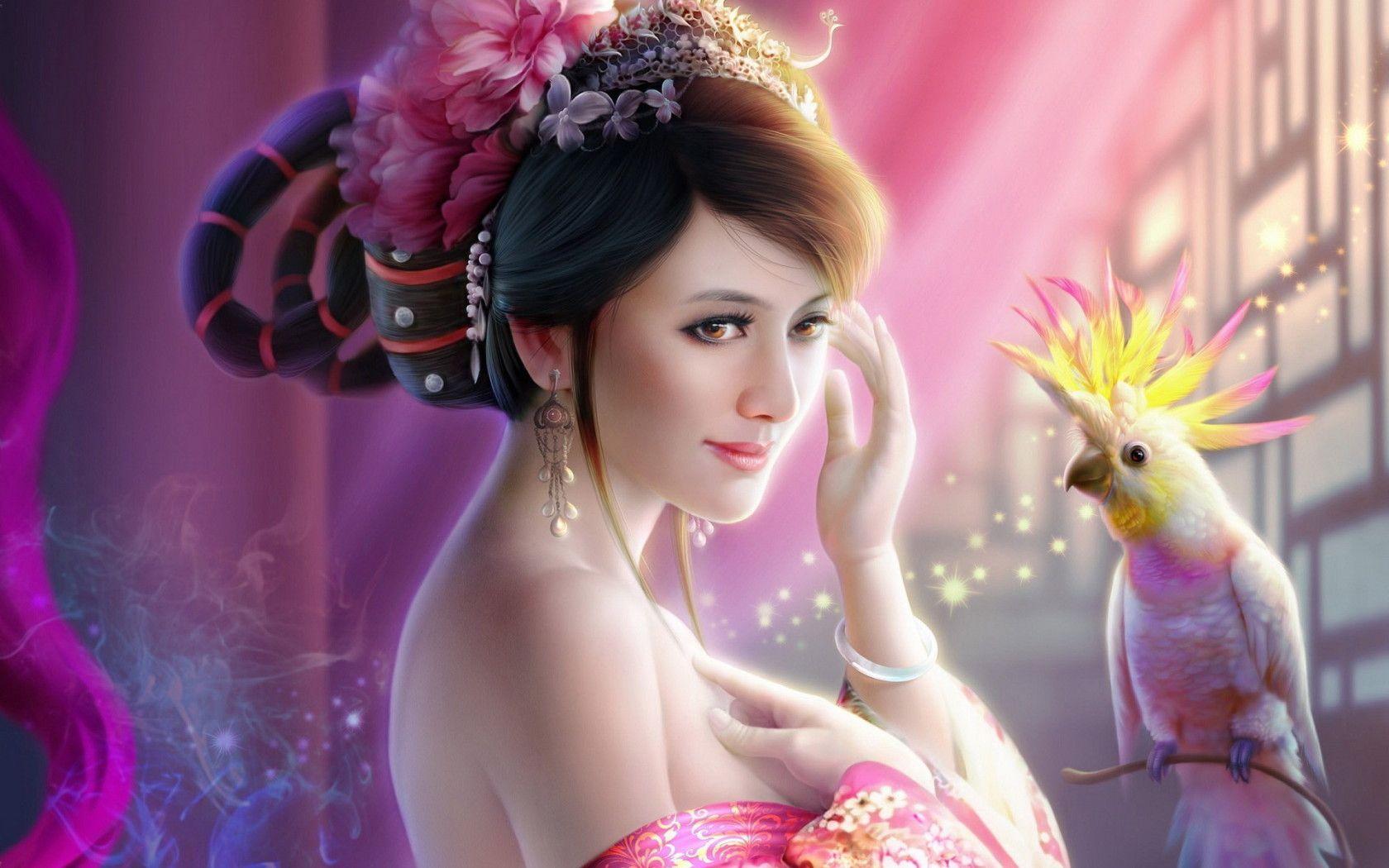 Beautiful 3d Girls Desktop Wallpaper In 2020 Fantasy Princess Fantasy Girl Cool Wallpapers For Girls