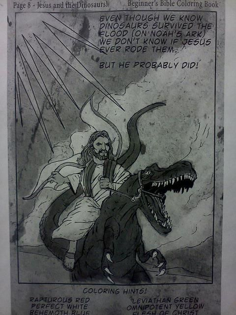 Im Pretty Sure Jesus Riding A Velociraptor Like Horse Is Why Religion Has To Be Part Of Politics