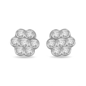 0 70 Ctw Honey Comb Diamond Earrings 14k Earrings Engagement Ring Online Jewelry