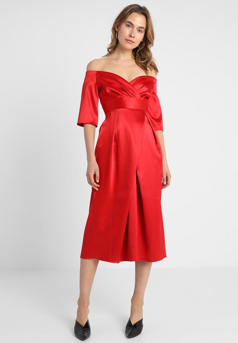 Robe rouge soiree zalando
