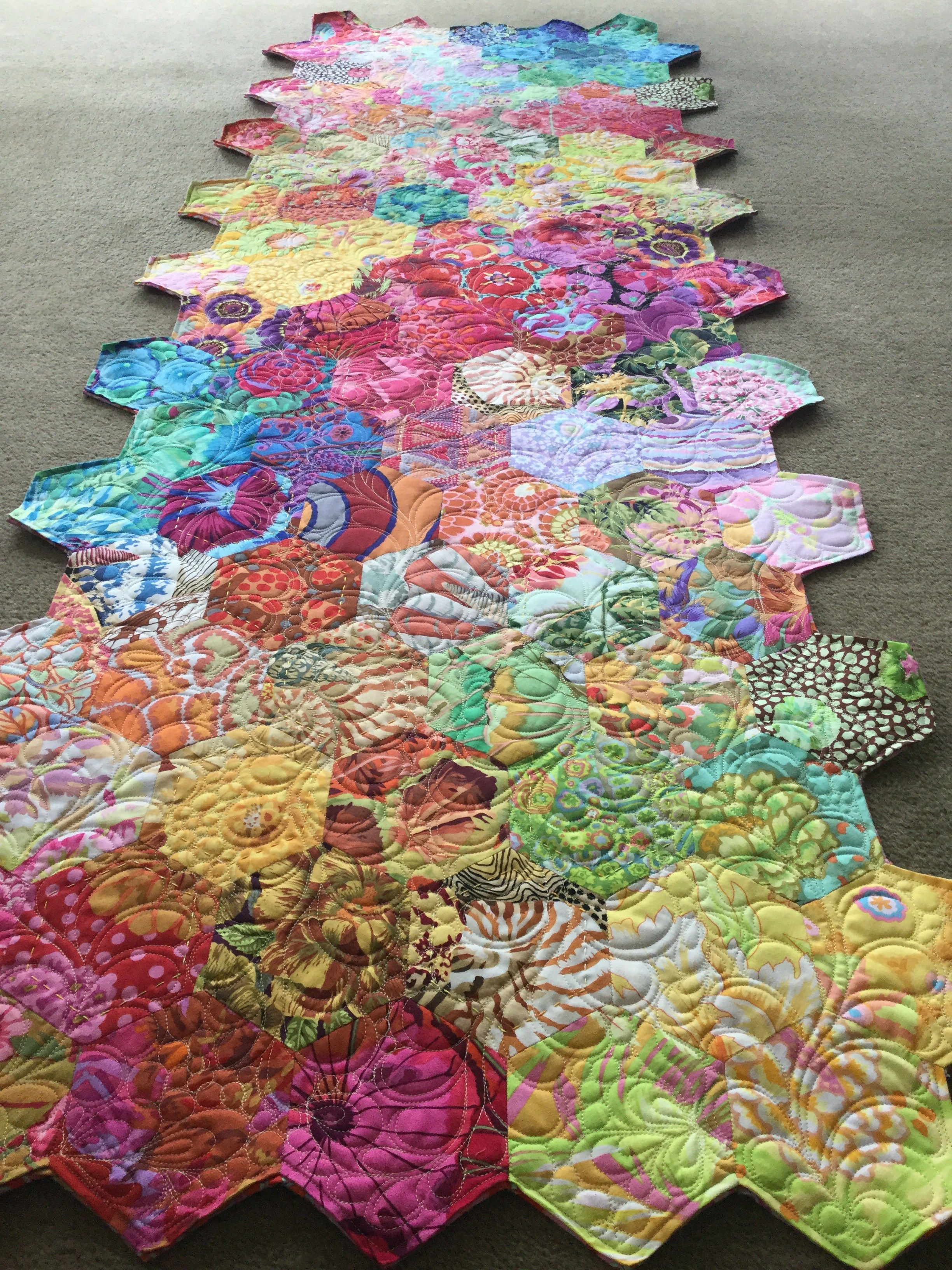 Epp kaffe fassett hexagons paper pieced quilt patterns