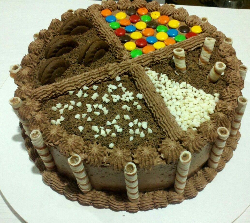 Torta de chocolate moderna