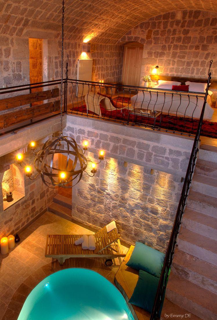 Emmy De Cave Bedroom With Private Indoor Pool Hotel Argos